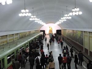 תחנה של הרכבת התחתית בפיונגיאנג