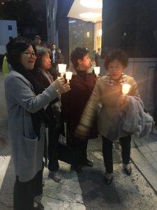 Old Ladies Demonstration in Seoul